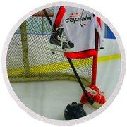 Washington Capitals Home Hockey Jersey Round Beach Towel
