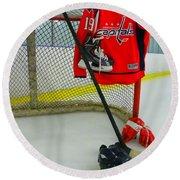 Washington Capitals Nicklas Backstrom Home Hockey Jersey Round Beach Towel
