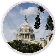 Washington Dc Capitol Dome Round Beach Towel