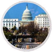 Washington D.c. - Elevated View Round Beach Towel