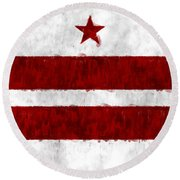 Washington D.c. Flag Round Beach Towel