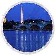 Washington D.c. - Memorial Bridge Round Beach Towel
