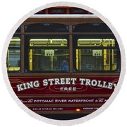 Washington Dc Trolley Round Beach Towel