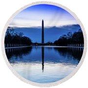 Washington D.c. - Washington Monument Round Beach Towel