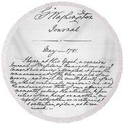 Washington: Journal, 1781 Round Beach Towel