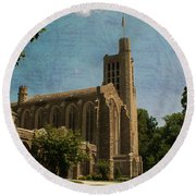 Washington Memorial Chapel Round Beach Towel