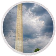 Washington Monument 2 Round Beach Towel