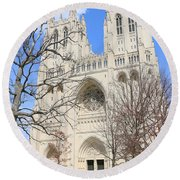 Washington National Cathedral Round Beach Towel