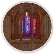 Washington National Cathedral Colors Round Beach Towel