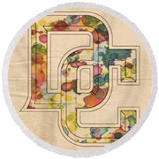 Washington Nationals Logo Art Round Beach Towel