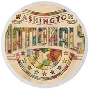 Washington Nationals Poster Art Round Beach Towel
