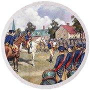 Washingtons Army, 1776 Round Beach Towel