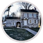 Washington's Headquarters At Valley Forge Round Beach Towel