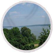 Washington's View From Mt. Vernon Round Beach Towel