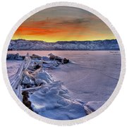 Washoe Ice Round Beach Towel