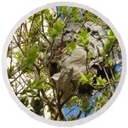 Wasps' Nest Round Beach Towel