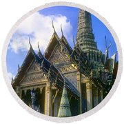 Wat Phra Kaew Round Beach Towel