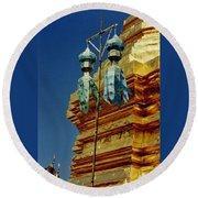 Wat Phrathat Doi Suthep  Round Beach Towel