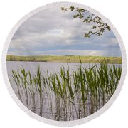 Watchaug Pond Round Beach Towel