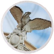 Watchful Eagle Round Beach Towel