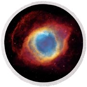 Watching - Helix Nebula Round Beach Towel by Jennifer Rondinelli Reilly - Fine Art Photography