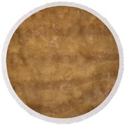 Water And Sand Background Round Beach Towel