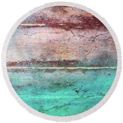 Water And Sky Round Beach Towel