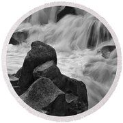 Water And Stone Nigel Creek 2 Round Beach Towel