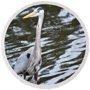 Water Bird Round Beach Towel