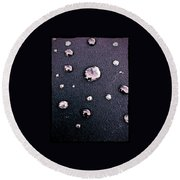 Water Bubble Relections Round Beach Towel