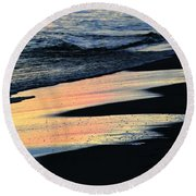 Water Colors .. Round Beach Towel