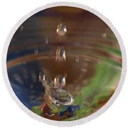Water Drop Abstract 5 Round Beach Towel