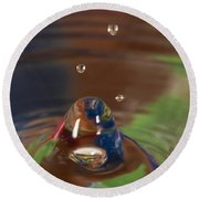 Water Drop Abstract 6 Round Beach Towel
