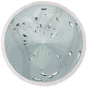 Water Drop Splash Round Beach Towel