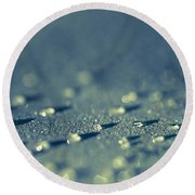 Water Droplets Close-up View On Plastic Chair Round Beach Towel