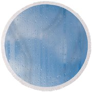 Abstract Of Condensation And Vapor Round Beach Towel