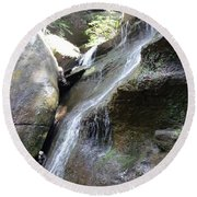 Water Fall In Hocking Hills Round Beach Towel
