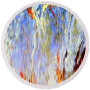 Water Fountain Abstract #30 Round Beach Towel