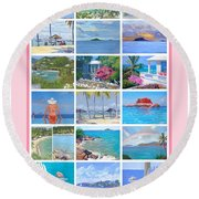 Water Island Poster Round Beach Towel
