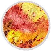 Water On Color Design Nine Round Beach Towel