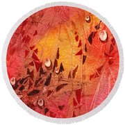 Water On Color Design Seven Round Beach Towel