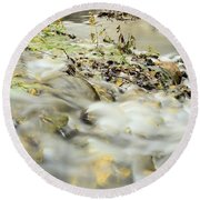 Water Over The Dike Round Beach Towel