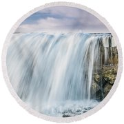 Water Over The Jetty Round Beach Towel