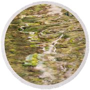 Water Reflection Round Beach Towel
