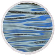 Water Reflections 2 Round Beach Towel