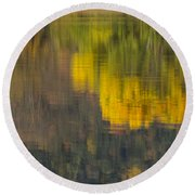 Water Reflections Abstract Autumn 2 B Round Beach Towel