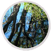 Water Reflections 3 Round Beach Towel
