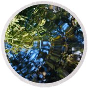 Water Reflections 4 Round Beach Towel