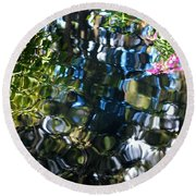 Water Reflections 9 Round Beach Towel