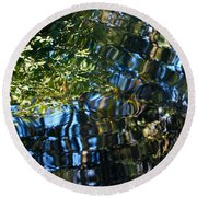 Water Reflections 7 Round Beach Towel